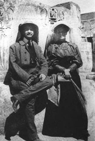 L frank and maud baum in egypt 1906