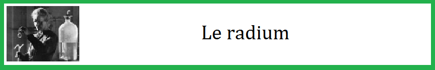 Le radium