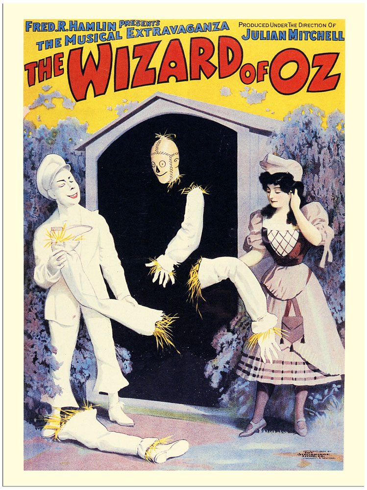 Wizard of oz theatre poster 1903